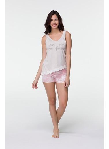 Hays Nova Kadın Penye Şortlu Pijama Takımı